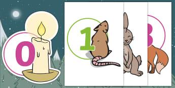 Ten Little Lights Display Numbers - Twinkl Originals, Fiction, Christmas, Winter, Snow, Cold, KS1, EYFS, Maths