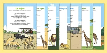 Safari Themed  Songs and Rhymes Resource Pack