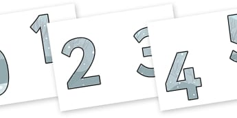 Display Numbers to Support Teaching on The Snowman - display, numbers, counting, display numbers, the snowman, the snowman numbers, snowman display numbers, numbers for display, cut out numbers
