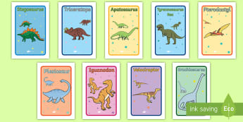 Dinosaur Themed IKEA Tolsby Frames Signs  - group work, differentiation, displays and signs