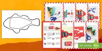 भाग्यशाली मछली शिल्प निर्देश - आसान शिल्प, निर्देश, कागज़ी शिल्प, मछली,