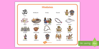 Hinduism Word Mat - hinduism, word mat, words, religion, hindu, religious education