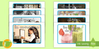 * NEW * Fotos de juego de rol: Cafetería saludable - café, alimentación, sano, dieta, nutrición, chef, menú, batidos, fruta, caja registradora, juego
