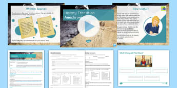 Anachronisms Transition Lesson Pack - detective, mystery, pair work, activity, source, analysis, evaluate, apply, Secondary  Resources,