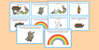 Noah's Ark Role Play Challenge Cards - noah, ark, role play, card
