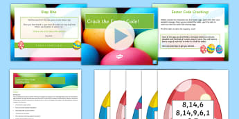 Crack The Easter Code! Activity Pack - Easter, game, fun, activity, code solving, clues, english literature, end of term activity