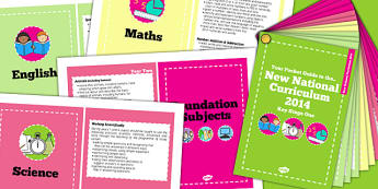 2014 Curriculum Cards KS1 Core And Foundation Subjects - card