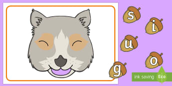 Feed the Squirrel Phase 2 Phonics Game - EYFS, Early Years, KS1, Key Stage 1, Literacy, English, Phonics, Letters and Sounds, Letter Sounds,