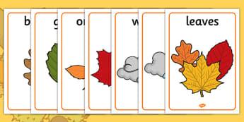 Autumn Display Posters - Autumn, poster, display, harvest, harvest festival, fruit, apple, pear, orange, wheat, bread, grain, leaves, conker