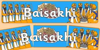 Baisakhi Display Banner - Sikhism, religion, faith, sikh, temple, RE