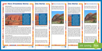 Uluru Dreamtime Differentiated Fact File - Aboriginal history, Indigenous history, Australian history, Australian geography, Aboriginal dreamin