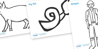 Colouring Sheets to Support Teaching on Pig in the Pond - Pig in the Pond, Martin Waddell, resources, Very Hot Day, Neligan, Neligan's pig, ducks, geese, pond, animals, story, story book, story book resources, story sequencing, story resources, Colou