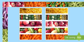 Healthy Eating Photo Display Borders - display, borders, photo