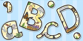 Display Lettering & Symbols (Spring) - Display lettering, display letters, alphabet display, letters to cut out, letters for displays, coloured letters, coloured display, coloured alphabet, lambs, daffodils, new life, flowers, buds, plants, growth
