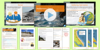 Coasts 8: Holderness Coast Lesson Pack - coasts, decision, making, exercise, gcse, justify, hard engineering, soft engineering, Flamborough H