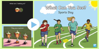 What Can You See? Sports Day PowerPoint Game - sports day, ks1, eyfs