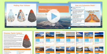 Making and Erupting Volcanoes Activity - volcanoes. eruptions, magma, lava, mount Vesuvius, magma chamber