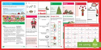 Christmas Fun Activity Pack - holidays, winter, advent, family activities, festive, xmas, entertainment