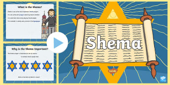 KS1 Shema Information PowerPoint - Religious Education, RE, Judaism, Jewish, Torah, Shema Yisrael, Prayer, Come and See