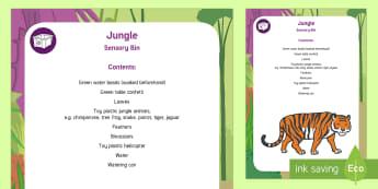 Jungle and Rainforest Sensory Bin - water beads, sensory play, jungle animals, green, amazon,