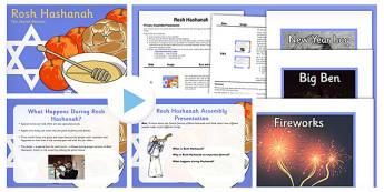 Rosh Hashanah Assembly PowerPoint and Script Pack - rosh hashanah