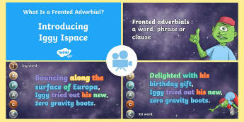 SPaG-Tastic! : Introducing Iggy Ispace (What Is a Fronted Adverbial?) Video - fronted adverbial, adverbial, Y4, Year 4, ispace, iggy, spag, gps, Twinkl Go, twinkl go, TwinklGo, twinklgo