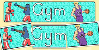 Gym Role Play Display Banner (Australia) - displays, banners