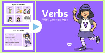 Verbs PowerPoint - verbs, powerpoint, presentation, words, grammar