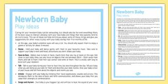 Newborn Baby Play Ideas - Newborn, play, entertain, baby, play ideas