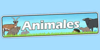 Pancarta - Animales - tema, área temática, decoración