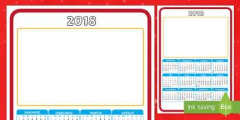 Cadou de Crăciun: 2018 Calendar de perete - craciun, cadou, atenție pentru parinti, cadouri, activitate, Romanian