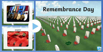 Remembrance Day Photo PowerPoint - Key Stage Two, Remember, November, Poppy Day, Assembly, November 11, armistice day