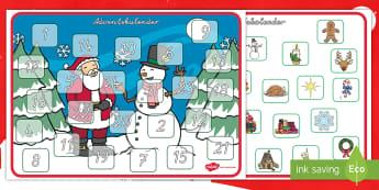 Adventskalender Aktivität - Weihnachten, Weihnachtlich, Kalender, Advent, Feiern, Fest, Vorfreude, German