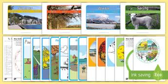 New Zealand Seasons Resource Pack - new zealand, seasons, resource pack, summer, winter, autumn, spring