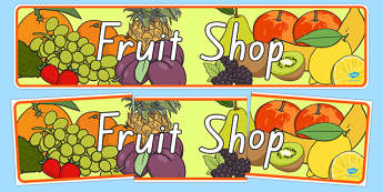 New Zealand Fruit Shop Role Play Banner