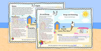 Seaside Lesson Plan Ideas KS1 - seaside, lesson, planner, KS1, lesson plans, KS1 lesson plans, seaside lessons, ideas for lessons, KS1 seaside lesson