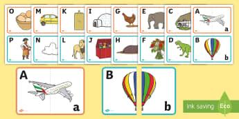 Pune literele în corespondență Activitate - litere, alfabet, activități, jocuri de alfabetizare, alfabetul,Romanian