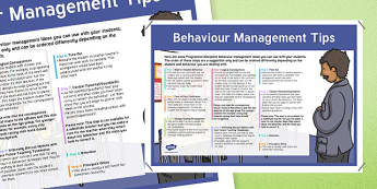 Behaviour Management Tips A2 Display Poster