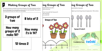 PlanIt Maths Y1 Multiplication and Division Making Groups of Two Home Learning