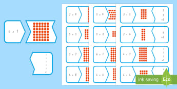 Multiplication Matching Puzzle Game - New Zealand, maths, multiplication, times tables, matching game, cards, Year 3, age 7, age 8, multip