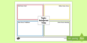 The Tribes of the Rainforest Teams Write-Up Worksheet / Activity Sheet - Rainbow teams, rainforest, tribes, cooperative learning, worksheet, Activities, rainforest resources