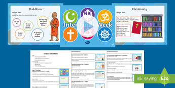 KS1 Interfaith Week Assembly Pack - faith communities, diversity, respecting differences, discrimination, religious beliefs.
