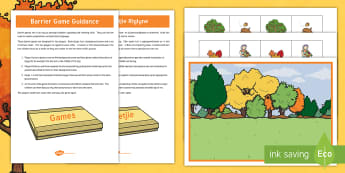Autumn Barrier Game English/Afrikaans - Leaves, season, colours, brown, yellow, blare, seisoen, EAL