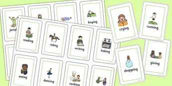 Two Syllable Final 'ng' Sound Flash Cards - final ng, sound, flash cards