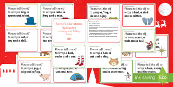 Santa's Christmas Whispers Challenge Cards - Christmas party games, team building games, talking, listening, Drama Games