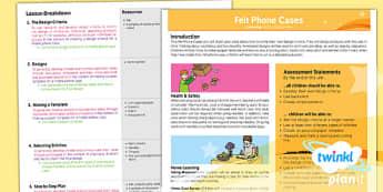 D&T: Felt Phone Cases UKS2 Planning Overview