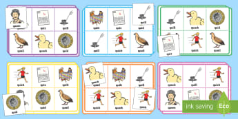 Phase 3 qu Sound Bingo - phonics, phoneme, game, phase 3, activity, worksheet, letters and sounds, qu
