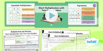 PlanIt Maths Y4 Multiplication and Division Lesson Pack Written Methods Multiplication Short Multiplication (1)
