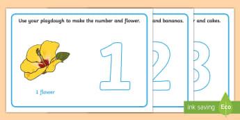 Number Playdough Mats (1-10) - Playdough mat, playdough resources, numeracy, numbers, playdough , numeracy, numbers, 1-10, playdough mats