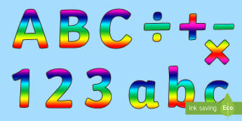 Display lettering resources primary classroom rainbow alphabet display lettering rainbow alaphabet display lettering display lettering spiritdancerdesigns Choice Image